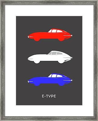 British Icon - Jaguar E Type Framed Print by Mark Rogan