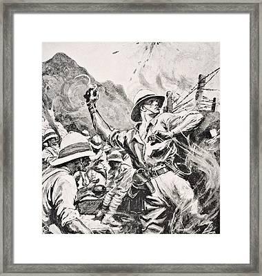 British Lieutenant W.t. Forshaw Vc Framed Print by Vintage Design Pics