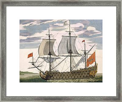 British Navy Framed Print by Pierre Mortier