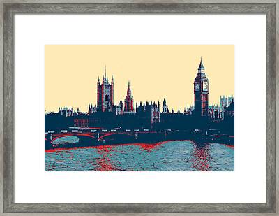 Framed Print featuring the photograph British Parliament by Artistic Panda