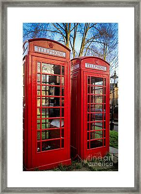 British Phonebooths Framed Print