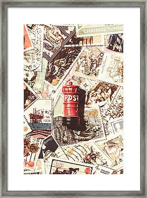 Framed Print featuring the photograph British Post Box by Jorgo Photography - Wall Art Gallery