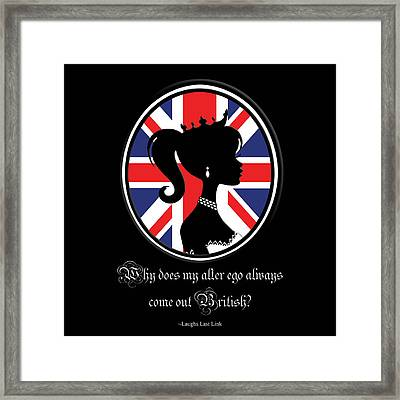 British Quote Framed Print