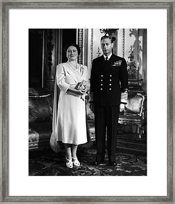 British Royalty. British Queen Framed Print