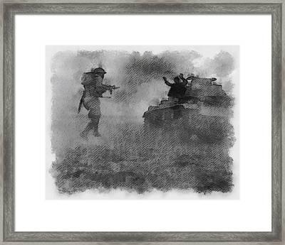 British Soldier In Western Desert Wwii Framed Print by Esoterica Art Agency