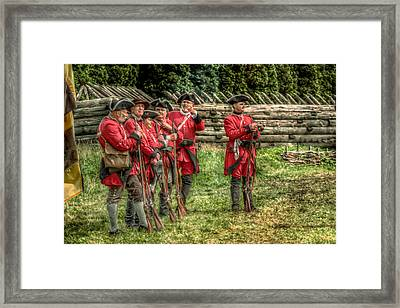 British Soldiers At Fort Ligonier Framed Print by Randy Steele