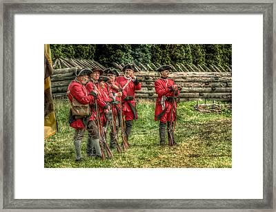 British Soldiers At Fort Ligonier Framed Print by Randy Steele