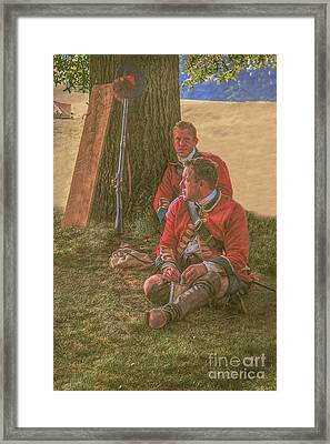British Soldiers In Camp Framed Print by Randy Steele