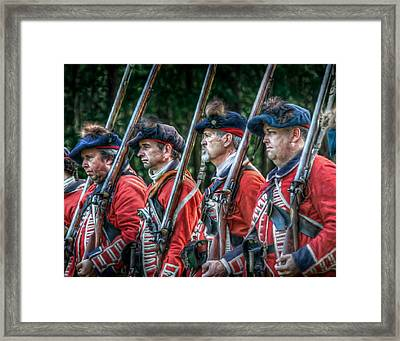 British Soldiers March To Fort Pitt Framed Print by Randy Steele