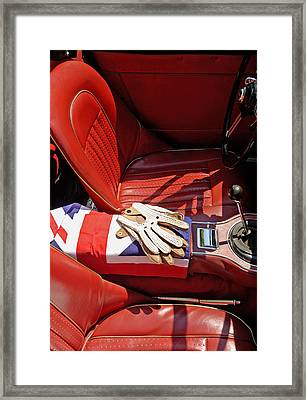 British Sports Car Interior Framed Print