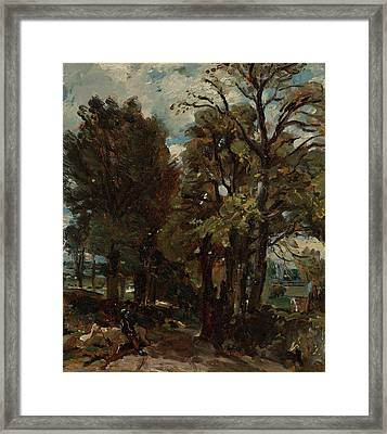 British Title Fen Lane East Bergholt Framed Print