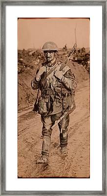 British Tommy World War One  1917 Framed Print by Daniel Hagerman