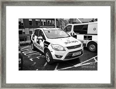 british transport police ford kuga and vehicles Manchester England UK Framed Print