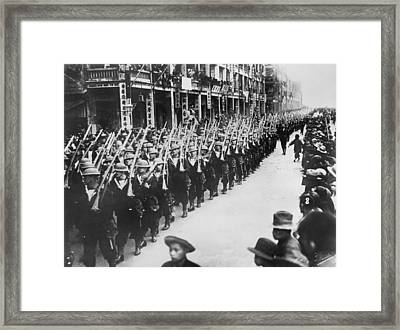 British Troops In Hong Kong Framed Print by Underwood Archives