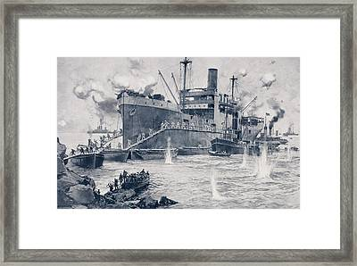 British Troops Landing From The 2000 Framed Print