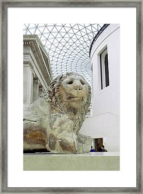 Britmuseumlion 0064 Framed Print by Charles  Ridgway