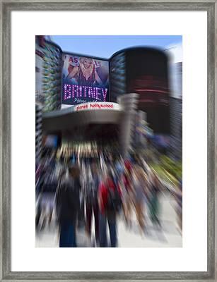 Britney Framed Print by Ricky Barnard