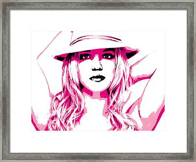 Britney Spears Framed Print by Brad Scott