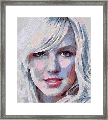 Britney Spears Portrait Framed Print by Yury Malkov