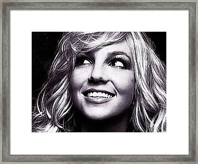 Britney Spears Framed Print by Iguanna Espinosa