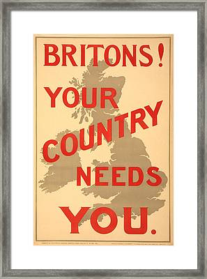 Britons Neded Framed Print by Richard Reeve