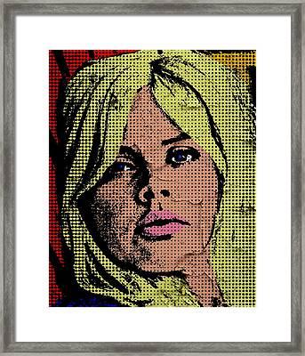 Britt Ekland-3 Framed Print