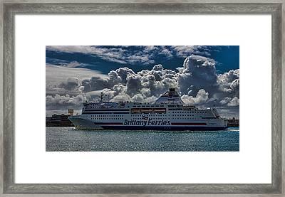 Brittany Ferry Framed Print