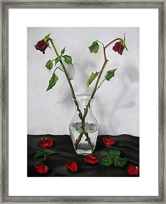 Brittle Beautiful Framed Print by Candice Wright