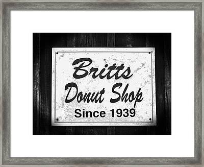 Britt's Donut Shop Sign 2 Framed Print