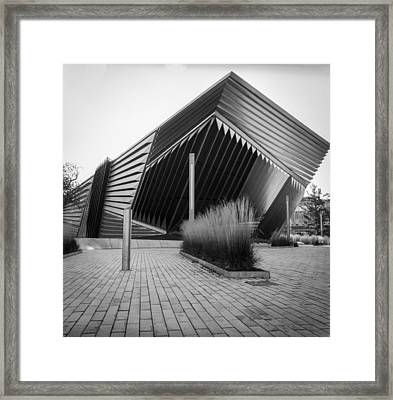 Framed Print featuring the photograph Broad Art Museum by Larry Carr