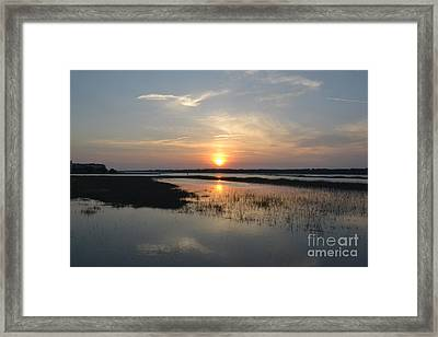 Framed Print featuring the photograph Broad Creek Sunset by Carol  Bradley