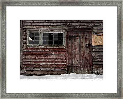 Broad Side Of A Barn Framed Print by Debra Fedchin