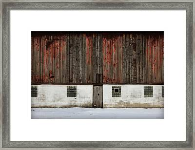 Broad Side Of A Barn Framed Print by Julie Hamilton
