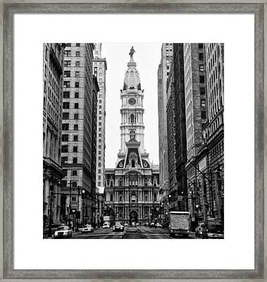 Broad Street At City Hall Framed Print