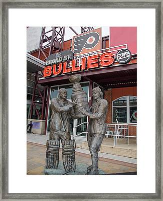Broad Street Bullies Pub - Clarke And Parant Framed Print by Bill Cannon