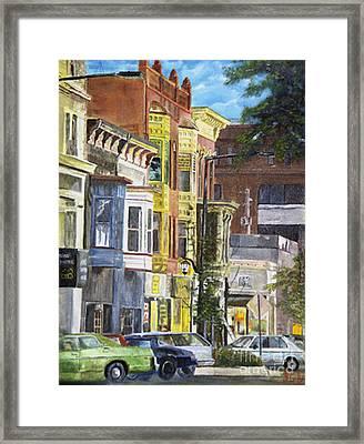 Broad Street Framed Print by CJ  Rider