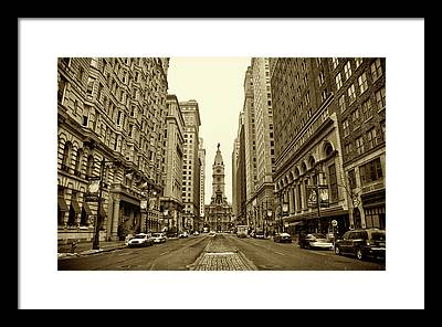 Philadelphia City Hall Framed Prints
