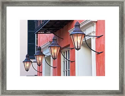 Broad Street Lantern - Charleston Sc  Framed Print