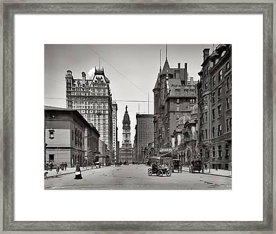 Broad Street Philadelphia 1905 Framed Print by Bill Cannon