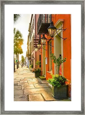 Broad St..sunrise Framed Print