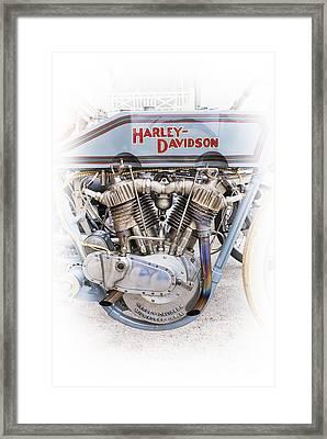 Broad Track Racer Framed Print