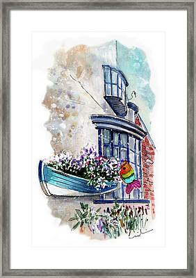 Broadies By The Sea In Staithes Framed Print
