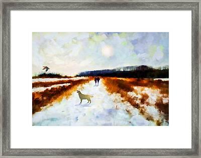 Broadland Walk Framed Print by Valerie Anne Kelly