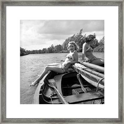 Broads On Board Framed Print by John Drysdale
