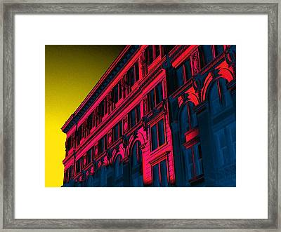 Broadway 118 In Fuschia Framed Print by Edgar Farrera