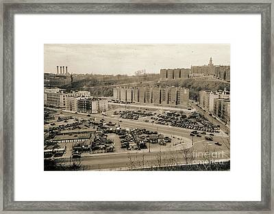 Broadway And Nagle Ave 1936 Framed Print