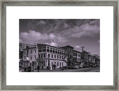Broadway And Thames Sts. Framed Print