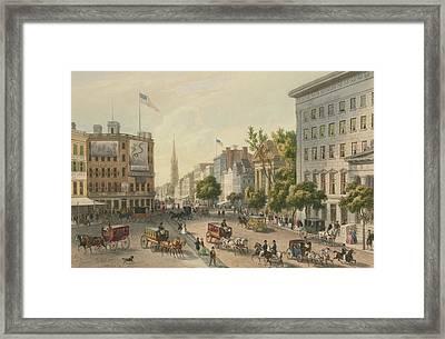 Broadway Framed Print by Augustus Kollner