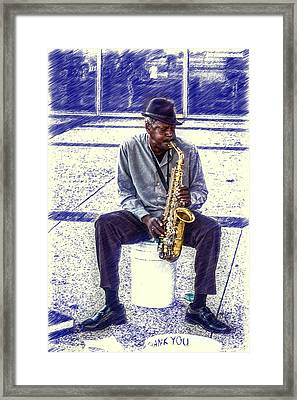 Broadway Blues Framed Print by John Haldane