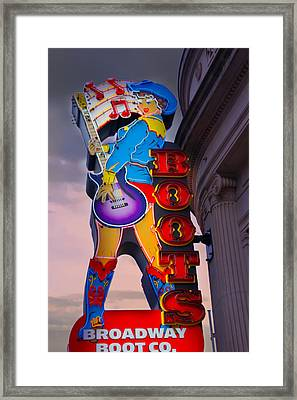 Broadway Boot Co. Sign, Nashville, Tennessee Framed Print by Art Spectrum